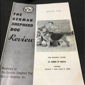 Vintage The German Shepherd Dog Review August 1970